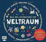 Das XXL-Entdecker-Set - Weltraum: Mit 10 Modellen zum Selberbauen, Sachbuch, Experimenten und cooler Rakete: Modelle im Set: Rakete mit Startrampe, ... Sonnenfinsternis, Nachthimmelmodell