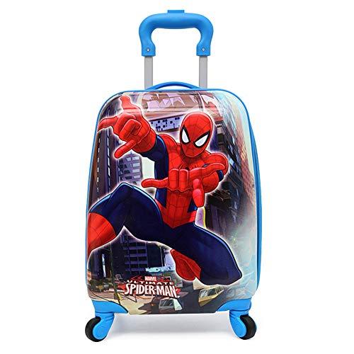 Gucili Kind Trolley, Cartoon Außerordentlicher Spiderman Wasserdichte Universal-Radkoffer, Licht Hochwertiger Verschleißfester Koffer