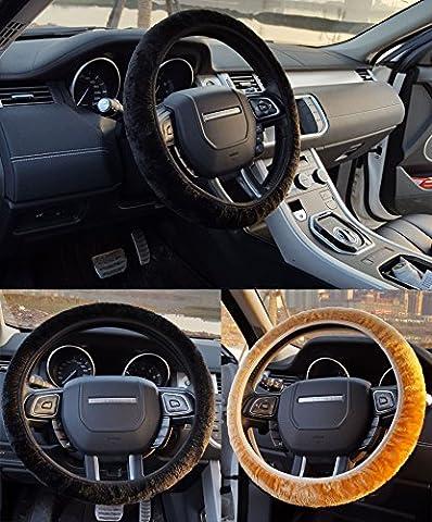 dikete® Lot de 2Voiture Universel Housse de volant lenkradabdeckung Housse de volant Protège volant voiture VOLANT