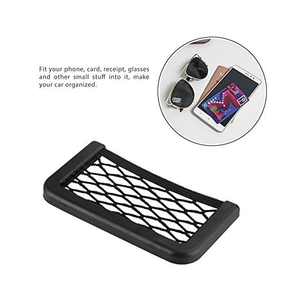 BRLIGE Car Seat Side Back Storage Net Bag Phone Holder Pocket Car Mesh Sundries Storage Box 8