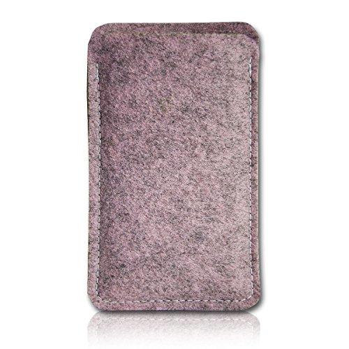 Filz Style Nokia P1 Filz Handy Tasche Hülle Etui passgenau für Nokia P1 - Farbe rosa meliert