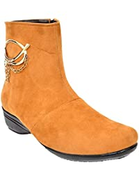 Altek Tan Synthetic Ankle Boot For Women (Size : 37 Euro, 7 Ind/Uk) Model: ALTEK_13_308