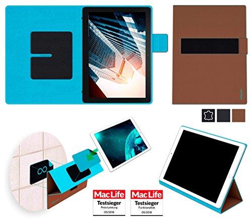 reboon Dell Latitude 5285 2 in 1 Hülle Tasche Cover Case Bumper | in Braun | Testsieger
