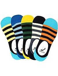 Supersox Men's Anti Slip No Show Socks / Loafer Socks - Pack of 5
