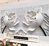 Personalizzato Any Size 3D Wallpaper Moderna Stereo Rilievo Fiore Di Loto Foto Per Soggiorno Divano Tv Sfondo Home Decor 400X280Cm