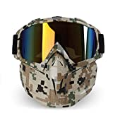 Daesar Gafas Deportivas Hombre Gafas Protectoras Viento Gafas de Trabajo Antivaho Gafas de Moto Hombre Estilo E