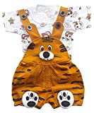 #5: SAS Baby Girl Baby Boys Dungaree Set for Kids, a Fashioned Product (Mustard Brown, 6-9 Months)