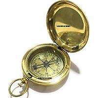 Brass Push Button Pirate Compass~ NauticalMart