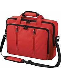 Halfar - Sac sacoche bandoulière transformable sac à dos - 1802765 - rouge - pour ordinateur portable jusqu'à 15-16 pouces