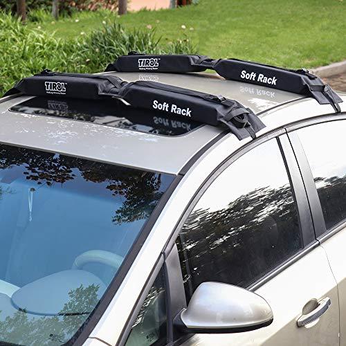 SmartSpec Auto Soft Dachgepäckträger, 2 Stück, Schwarz, einfache Gepäckträger, Traglast 60 kg, faltbar, Oxford Universal Auto Gepäckträger