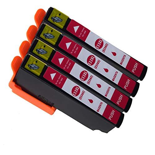 Ouguan Compatibile per Cartucce Epson 33XL 33 per Epson XP-640 XP-530 XP-830 XP-645 XP-540 XP-900 XP-630 XP-635 XP-7100-4 Magenta