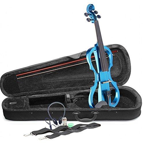 Stagg EVN x-4/4MBL voller Größe Elektrische Violine Outfit-Blau