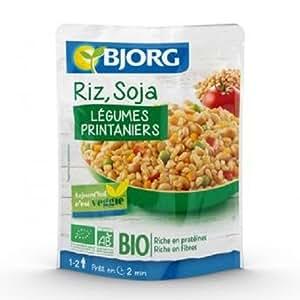 Bjorg Riz, soja et Legumes Bio Sachet pour 1 à 2 personnes 250 g