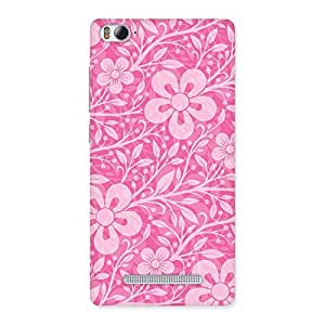 NEO WORLD Remarkable Pink Pattern Back Case Cover for Xiaomi Mi4i
