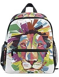 Preisvergleich für DEZIRO Art Lion Kinder Büchertasche Schulrucksack Reisetasche