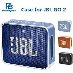 Pushingbest Coque de Protection Housse pour JBL GO2, Résistant aux Chocs, Facile à Transporter (Transparent)