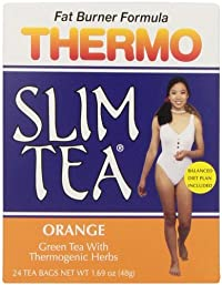 Thermo Slim Tea, Orange, Tea Bags, 24-Count Box (Pack of 4)