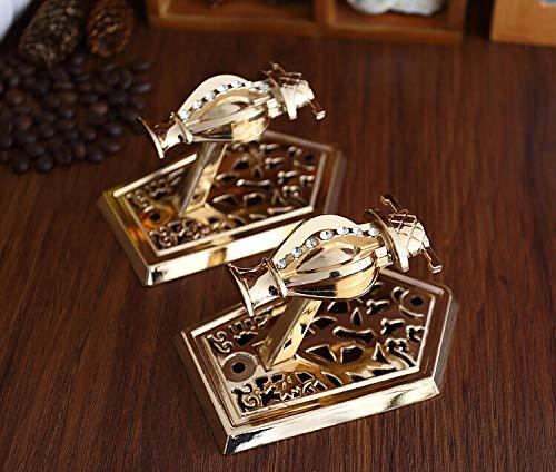 Joeesun 2 stücke/ein paar Retro Vase Wandhaken Metall Kleiderbügel Bronze Shabby Chic Raffhalter Haken Vorhang haken Hut Kleiderbügel Gold (Antike Vorhänge Chic)