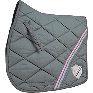 HySPEED Universal Saddle Cloth Black/Pink/Grey Pony Horse Saddlecloths & Numnahs 7