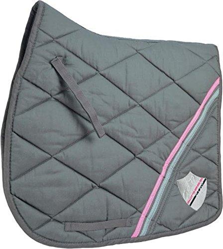 HySPEED Universal Saddle Cloth Black/Pink/Grey Pony Horse Saddlecloths & Numnahs 1