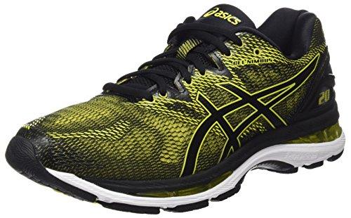 ASICS Men's Gel-Nimbus 20 Sulphur Spring/Black/White Running Shoes - 12 UK/India (48 EU)(13 US)(T800N.8990)