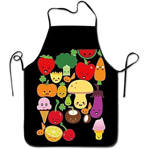 Delantal De Cocina,Delantal De Chef,Delantal Para Hornear,Kitchen Apron,Delantales De Cocinero,Delantal Para Barbacoa,Cocina Delantal,Bib Apron,Apron,Chef Apron,Mejor Regalo Frutas Y Verduras Dur