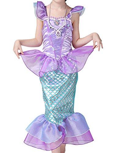ARAUS Baby Kleidung Mädchen Kostüm Halloween Meerjungfrau Prizessin Kleid 3-10 Alter