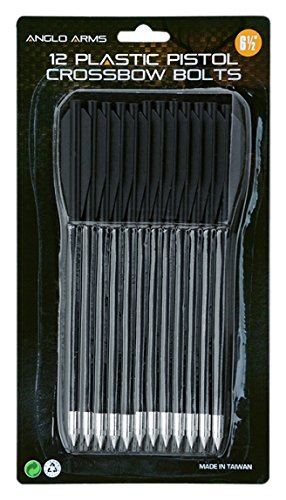 Anglo Arms Unisex Plastik Pistole Armbrust Bolzen, Schwarz, 6.5-inch