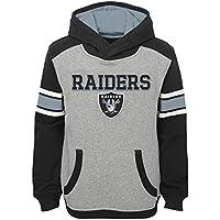 "Oakland Raiders Youth Jeunes NFL ""Allegiance"" Pullover Hooded Sweatshirt chemise"