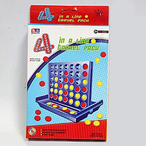 sionales Vier-Schach-Spiel Früherziehung Eltern-Kind-Interaktion 1 Set Connect 4 In A Line Board Classic Game ()