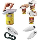 ZAK168 Elektrischer Dosenöffner für Zuhause, Restaurant, Automatischer elektrischer Dosenöffner, Werkzeug für Küche und Chef, schwarz/weiß, Einheitsgröße