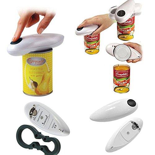 Zak168apriscatole elettrico, casa ristorante automatico elettrico può apriscatole, best open tool per cucina chef, black+white, taglia unica