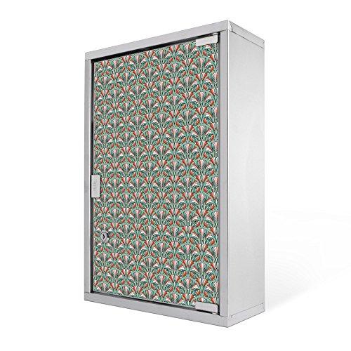 #Medizinschrank groß Edelstahl abschliessbar 30x45x12cm Arzneischrank Medikamentenschrank Hausapotheke Erste Hilfe Schrank Motiv Kaktusblüte#