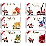 JaipurCrafts Sophies Premium Quality Assorted Herbal (100% Nicotine and Tobacco Free) Hookah Flavors (Pack of 6)