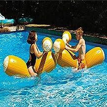 AMhuui Juguetes de Justa inflables, Juego de Palos inflables de Doble Golpe para Nadar en