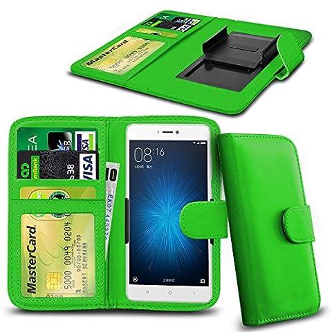 Honor 4C Wallet Bracelet à ressort pour porte-à-faux réglable avec patte d'identification / carte Housse de protection universelle ( Green)