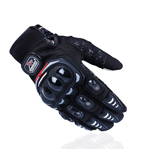 Madbike Guanti di motocicletta estiva trasparente trasparente dello schermo di tocco (XXL, black)