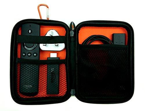 Schutzhülle & Schutztasche für Amazon Fire TV Stick Fernbedienung 1, 2 & 3 Generation – stoßfeste Case Zubehör Tasche & Etui Hülle mit Reißverschluss für die Alexa Sprachfernbedienung