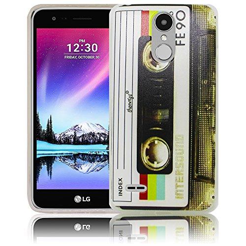thematys LG Mobile K10 2017 Kassette Silikon Schutz-Hülle weiche Tasche Cover Case Bumper Etui Flip Smartphone Handy Backcover Schutzhülle Handyhülle