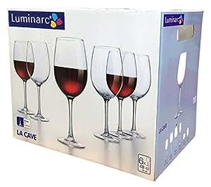 luminarc lot de 6 verres pied d gustation la cave 48 cl j3418 cuisine maison. Black Bedroom Furniture Sets. Home Design Ideas