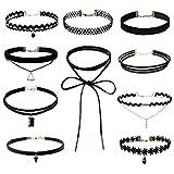 Wenseny 10 Stück Damen Hoker Halskette Velvet Spitze gebraucht kaufen  Wird an jeden Ort in Deutschland