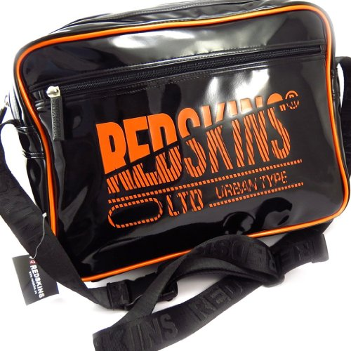 Redskins [K2535] - Besace 'Redskins' noir / orange (vernis)