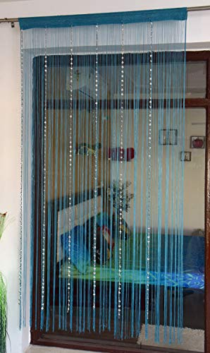 check MRP of thread curtains with beads Saira