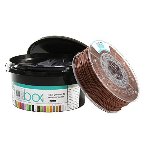 Avistron mini 500gr PLA 1.75mm 3D Drucker Filament Minirollen verschiedene Farben innovative Verpackung (Bronze)