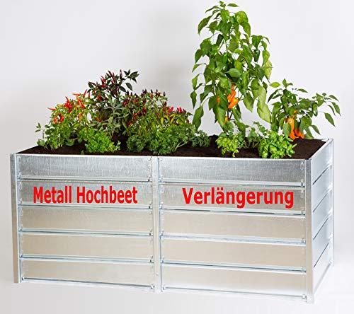 myowngreen Verlängerung für Metall Hochbeet 84 x 211 x 74 cm