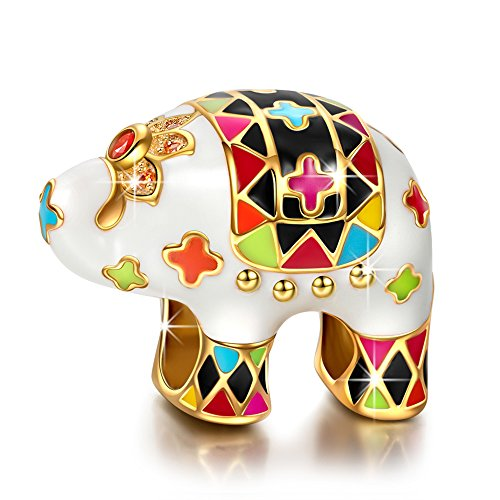 NinaQueen Lucky Elephant - 925 Sterling Silver Charms Nickel-free (Happy Home Series) K6AI80NVt