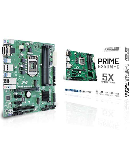 ASUS Prime B250M-C Gaming Mainboard Sockel 1151 (mATX, Intel B250, Kabylake, 4xDDR4-Speicher, USB 3.0)
