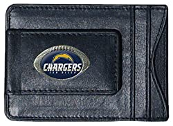 NFL San Diego Chargers Leather Money Clip Cardholder