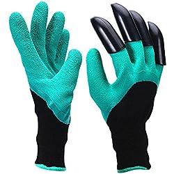 Garden Genie Gartenhandschuhe, Skitic Wasserdichte Garten Handschuhe, Langlebig Stichsichere Safe Gartenarbeit Handschuhe mit Krallen zum Graben & Bepflanzen