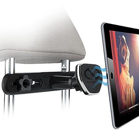 Naztech Magbuddy appuie-tête universel support magnétique de voiture, divertissement Parfait Siège arrière, Entièrement réglable support pour appareil mobile avec technologie Insta-lock pour smartphones, tablettes et liseuses